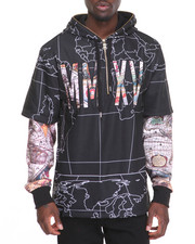 Men - Switch Map - Print Zip - Up Hoodie