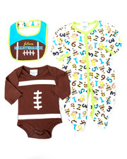 Boys - 3 PC TOUCHDOWN SLEEP & PLAY SET (NEWBORN)