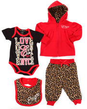 Infant & Newborn - 4 PC FLEECE JACKET SET (NEWBORN)