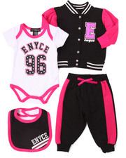 Sets - 4 PC FLEECE JACKET SET (NEWBORN)