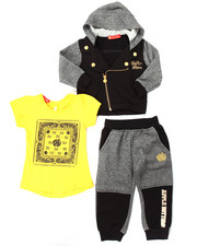 Sets - 3 PC MOTO HOODY & JOGGERS SET (2T-4T)