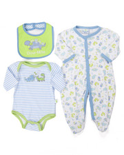 Boys - 3 PC DINO SLEEP & PLAY SET (NEWBORN)