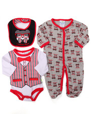 Boys - 3 PC PUPPY SLEEP & PLAY SET (NEWBORN)