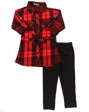 Girls - 2 PC PLAID TUNIC & LEGGINGS SET (4-6X)