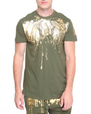 Shirts - Foil Money Drip  Zipper Tee