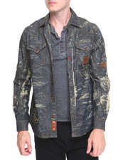 Shirts - Distressed Denim Jacket