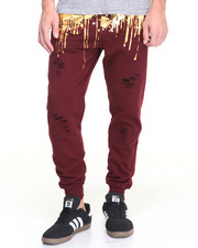 Buyers Picks - Gold Foil Drip Jogger
