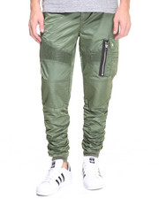 Buyers Picks - M A 1 - Style Rouched Moto Nylon Joggers