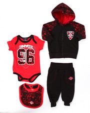 Boys - 4 PC HOODY & JOGGERS SET (NEWBORN)