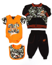 Boys - 4 PC JACKET & JOGGERS SET (NEWBORN)