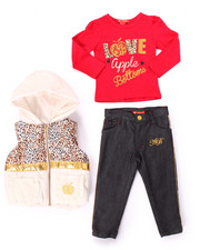 Sets - 3 PC PUFFER VEST & JEANS SET (2T-4T)