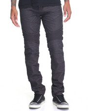 Men - Waxed Colored Slim - Fit Biker Denim Jeans