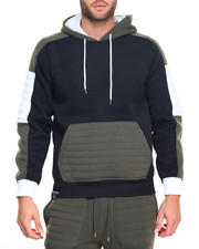 Men - Colorblock Moto Hoody