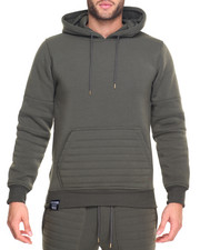 Men - Moto Quilted Hoody