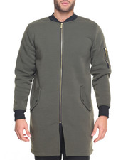 Outerwear - Ma 1 Elongated Contrast Fleece Jacket