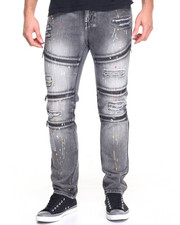 Men - Paint Splatter Moto Jean