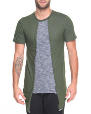 Men - Raw edge Melange Slub Tee