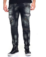 Buyers Picks - Paint Glazed Biker Jean