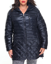 Plus Size - Aurora Quilted Heavy Bubble Jacket (plus)