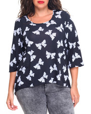 Plus Size - Drop Bows' On Em Printed Top (plus)