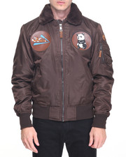 Men - Top Gun Flying Tigers Nylon Bomber Jacket