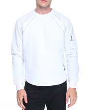 Men - MA-1 Nylon Sleeve Metallic Pyramid Scallop Sweatshirt