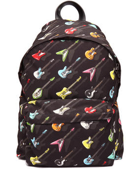 Women - Guitar Print Backpack