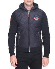 Men - Top Gun Quilted Fleece Hoodie with Patches