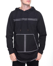 Men - L/S Denim Trim Hoodie
