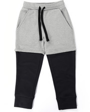 Boys - 2-FER LAYERED JOGGERS (4-7)