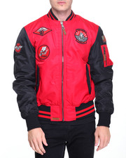 The Classic Bomber Jacket - Top Gun Color Block MA-1 Bomber Jacket with Patches