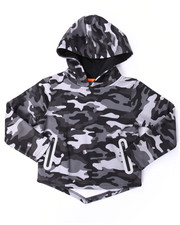 Arcade Styles - CAMO REFLECTIVE DROPTAIL HOODIE (4-7)