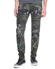 Jeans & Pants - Splatted Camo Moto Twill Pants