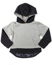 Boys - 2-FER DROPTAIL LAYERED HOODIE (4-7)