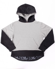 Sizes 8-20 - Big Kids - 2-FER DROPTAIL LAYERED HOODIE (8-20)