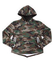 Sizes 8-20 - Big Kids - CAMO REFLECTIVE DROPTAIL HOODIE (8-20)
