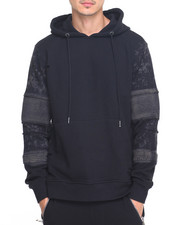 Men - Biker French Terry Pullover Hoodie