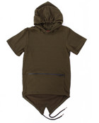 S/S FRENCH TERRY FISH TAIL HOODY (8-20)