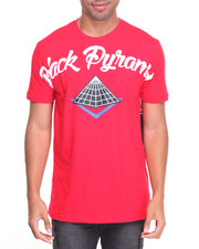 Men - Wavy Font Pyramid S/S Tee