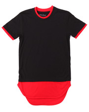 Boys - CREW NECK DOUBLE LAYER SCALLOP HEM TEE (8-20)