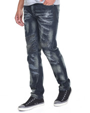 Men - Distressed Camo Jean