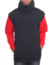 Buyers Picks - Cowl Biker Contrast Sweatshirt