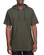 Men - S/S Extended Length Hoodie W/Wide Tapered Pockets
