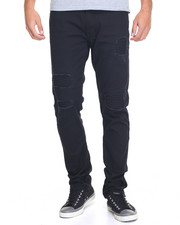 Men - Fly Society Twill Moto Patch Denim Jean