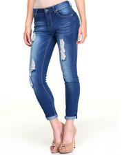 Women - Denim Roll Cuff Skinny Jean