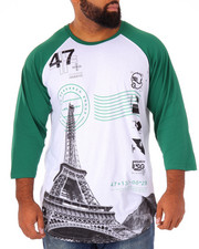 T-Shirts - Elevated Eiffel 3/4 Raglan (B&T)