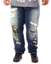 Men - Cargo Repaired Denim Jeans (B&T)