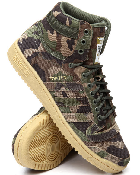 Buy Top Ten Hi Camo Men S Footwear From Adidas Find