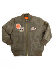 Heavy Coats - AZTEC PATCH BOMBER JACKET (2T-4T)
