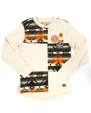 Sizes 8-20 - Big Kids - AZTEC L/S HENLEY (8-20)